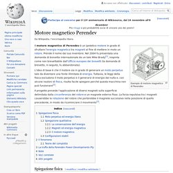 Motore magnetico Perendev