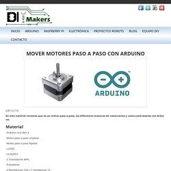 Mover motores paso a paso con Arduino