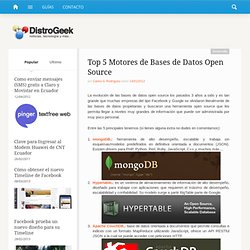 Top 5 Motores de Bases de Datos Open Source | DistroGeek