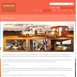 New Motorhomes For Sale NSW, QLD & Victoria