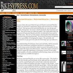 Motorised Bicycles / Motorized Bicycles / Motorized Bike - BikesXpress