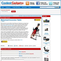 Motorized Inversion Table