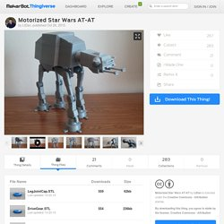 Motorized Star Wars AT-AT by LtDan