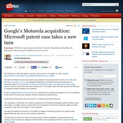 Google buys Motorola for its patent portfolio