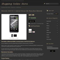 Motorola DROID X Android Verizon Cell Phone from Motorola at the Shopping Online Stores