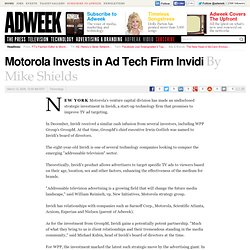 Motorola Invests in Ad Tech Firm Invidi