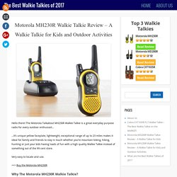 Good walkie talkies
