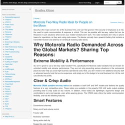 Motorola Two-Way Radio Ideal for People on the Move