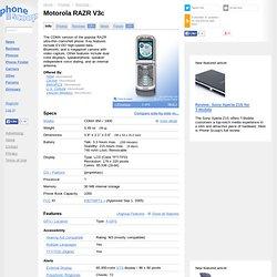 Motorola RAZR V3c Specs & Features