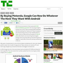 By Buying Motorola, Google Can Now Do Whatever The Heck They Want With Android