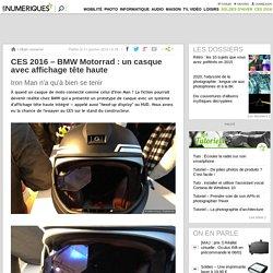 CES 2016– BMW Motorrad: un casque avec affichage tête haute