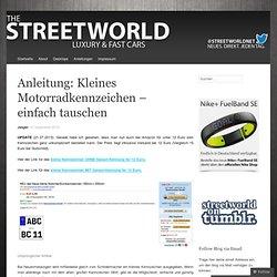 Anleitung: Kleines Motorradkennzeichen – einfach tauschen