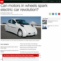 Can motors in wheels spark electric car revolution?