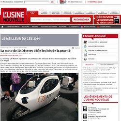 La moto de Lit Motors défie les lois de la gravité
