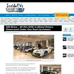 SIM-Drive – All EVs With In-Wheel Motors Showcased Under One Roof (w/videos)