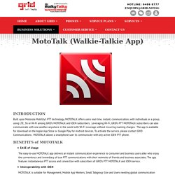 MotoTalk (Walkie-Talkie App) - GRID Communications