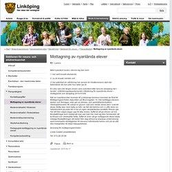 Mottagning av nyanlända elever - linkoping.se