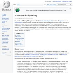 Motte-and-bailey fallacy