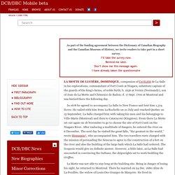LA MOTTE DE LUCIÈRE, DOMINIQUE – Volume I (1000-1700)