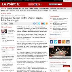 Le Monstre contre-attaque, appel à l'aide des insurgés, actualité Reuters