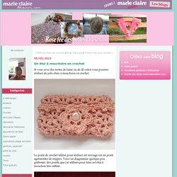 Un étui à mouchoirs en crochet : Rose fée des belles choses