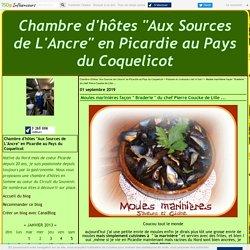 """Moules marinières façon """" Braderie """" du chef Pierre Coucke de Lille ..."""