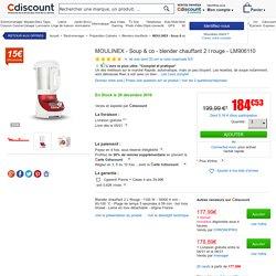 MOULINEX - Soup & co - blender chauffant 2l rouge - LM906110 - Achat / Vente blender