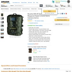 Moultrie Gamespy 5 Megapixel Digital Infrared Game Camera: Sports & Outdoors
