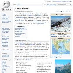Mount Helicon - Wikipedia
