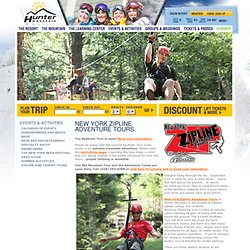 Hunter Mountain | Hunter Mountain Actvities | Zipline and Canopy Tour