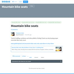 Mountain bike seats · Mountain bike seats