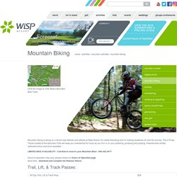 Mountain Biking at Wisp Resort