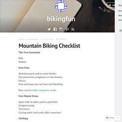 Mountain Biking Checklist – bikingfun