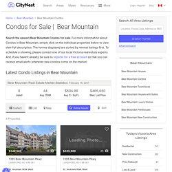 Condos for sale Bear Mountain