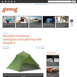 Mountain Hardwear reimagines tent pitching with Hoopla 4