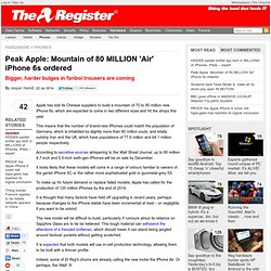 Peak Apple: Mountain of 80 MILLION 'Air' iPhone 6s ordered