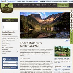 Rocky Mountain National Park-an American natural treasure