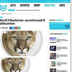 Apple dévoile sa nouvelle version de Mac OS X Mountain Lion prévue pour l'été