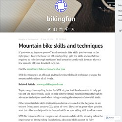 Mountain bike skills and techniques – bikingfun