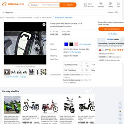 Cheap price 48V electric bicycle 2019 mountainbikes for adults, View electric mountainbike, MILG Product Details from Guangdong Futengda Technology Co., Ltd. on Alibaba.com