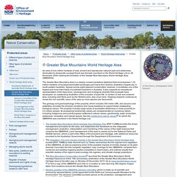 Greater Blue Mountains World Heritage Area