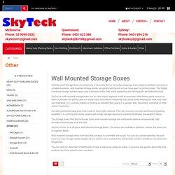 Wall Mounted Storage Boxes & Panels
