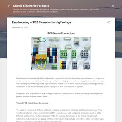 Easy Mounting of PCB Connector for High Voltage