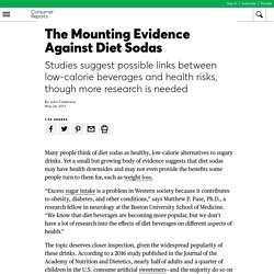The Mounting Evidence Against Diet Sodas