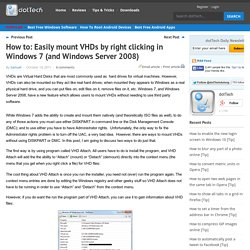 Mounting VHD by Right ClickingdotTech