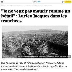 """""""Je ne veux pas mourir comme un bétail"""" : Lucien Jacques dans les tranchées - 2 août 2014"""