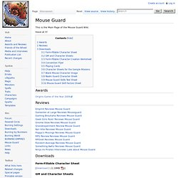 Mouse Guard - Burning Wiki