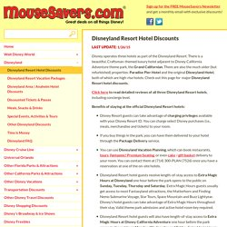 Disneyland Resort Hotel Discounts