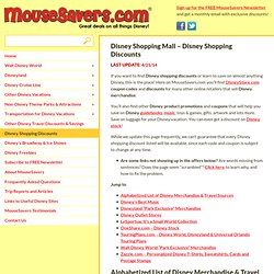 Disney Shopping Mall - Disney Shopping Discounts