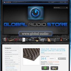 Adam Hall - Mousse acoustique alvéolée (200 cm x 100 cm x 30 mm) en vente chez GLOBAL AUDIO STORE - Mousse Acoustique